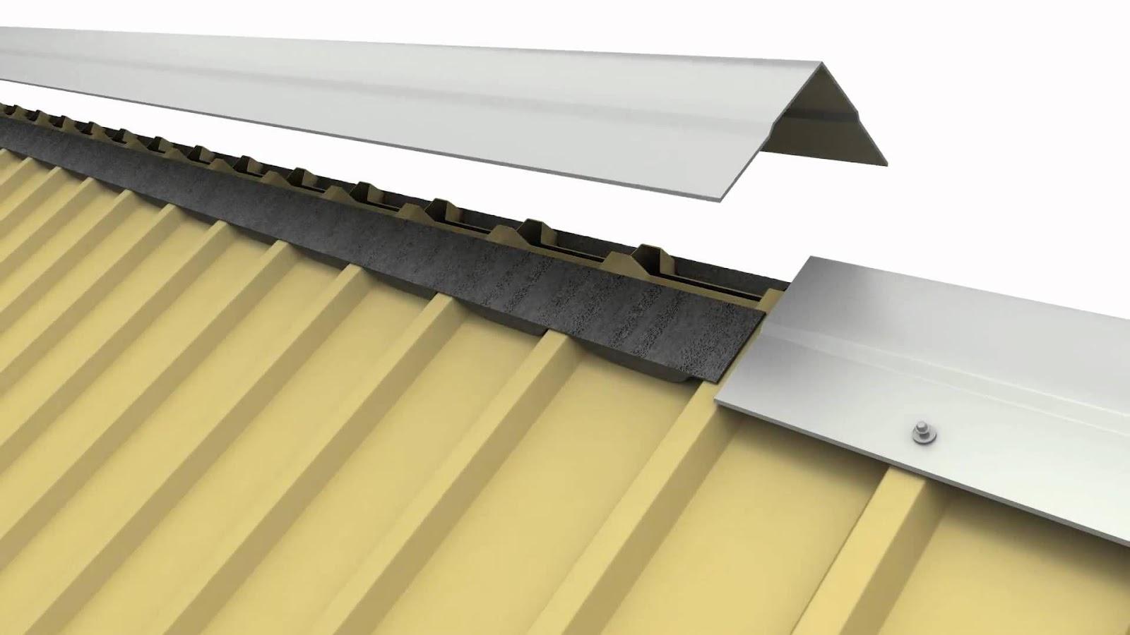 Úp nóc tôn giúp ngắn tình trạng thấm dột từ trên đỉnh mái