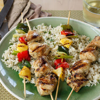 Grilled Chicken & Vegetable Kabobs