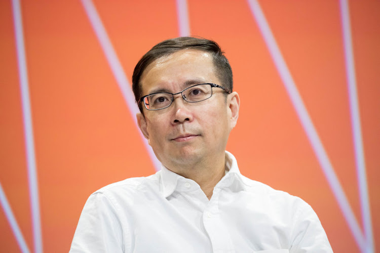 Daniel Zhang CEO of Alibaba group, attends a conference during Viva Technology at Parc des Expositions Porte de Versailles on June 16, 2017