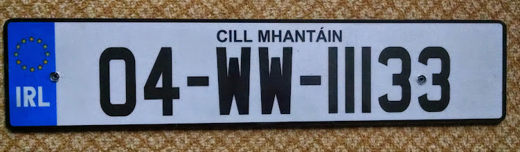 Photo: County Wicklow license plate