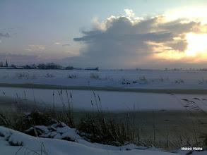 Photo: Sneeuwbui boven Leons