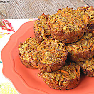 Carrot Cake Baked Oatmeal Cups {Gluten, Dairy & Nut Free}.