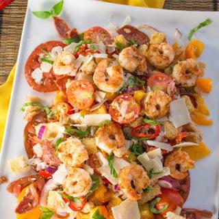 Panzanella Salad with Shrimp –