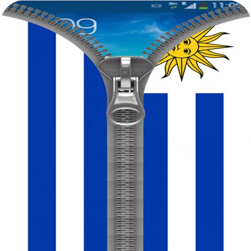 Uruguay Flag Zipper Lock