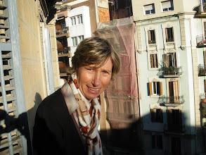 Photo: sur le balcon de notre appart'