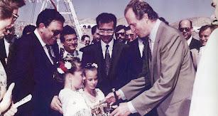 Don Juan Carlos y doña Sofía inaugurando el puerto de Carboneras en 1991.
