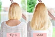 Image result for How to put in hair extensions in short hair