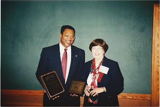 Photo: Carl Harris (DPS Superintendent) and Dianne McDowell