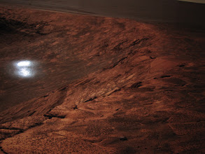 Photo: Opportunity's view of the Endurance Crater