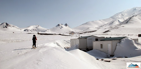 Photo: Passing along the hut's village on the way to volcano Avachinsky