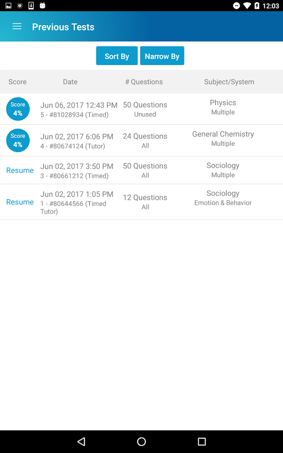 UWorld MCAT- screenshot