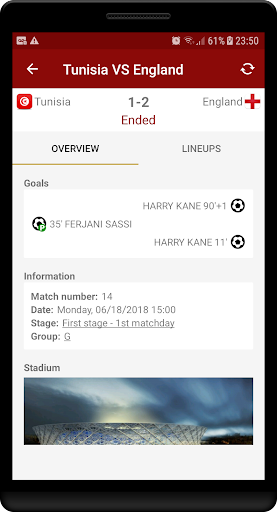 World Cup Russia 2018 - Live Scores & Schedule  screenshots 3