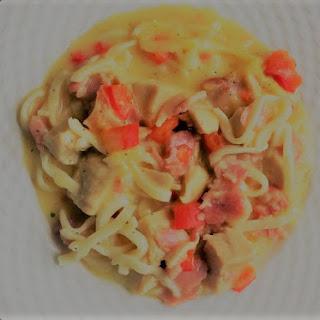 Chicken Tetrazzini Noodles.