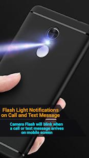 Вспышка при вызове и SMS, вспышка оповещений Фонарик мигает
