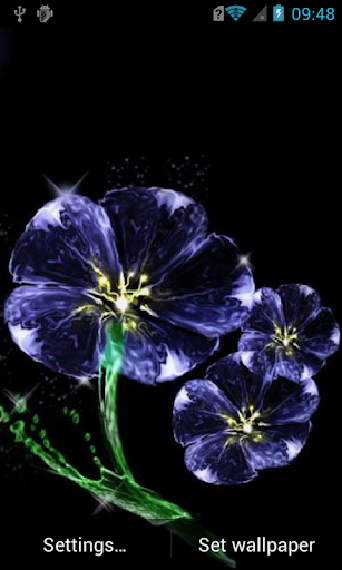 Blue flower Live Wallpaper