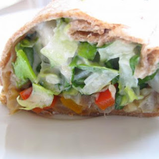 Grilled Veggie and Salad Wrap