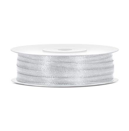 Satinband - Silver 3 mm