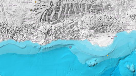 Tiembla el mar de Adra: terremoto a 12 kilómetros del municipio