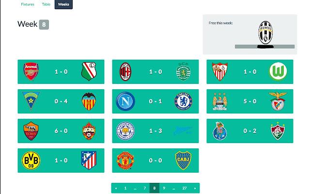 Fifa generator week view plugin