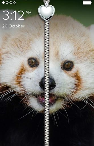 Cute Panda Zipper Lock Screen