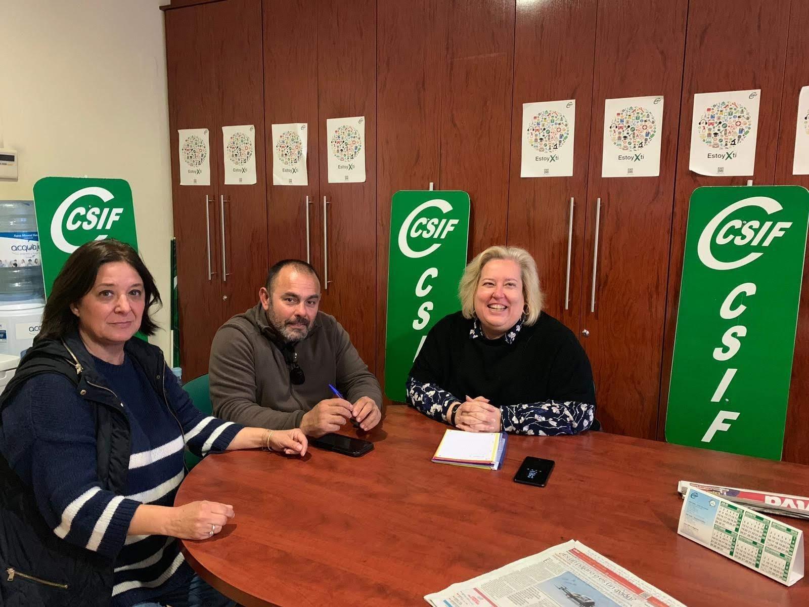 Delegados de CSIF transmiten a la candidata de Entre Todos, Algeciras sus preocupaciones sobre la situación municipal