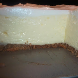 Lady Rose's Cheesecake with Sour Cream Topping.