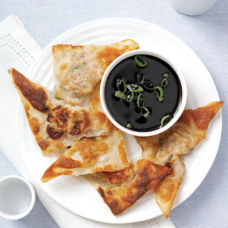 Wonton Pot Stickers with Soy Reduction.