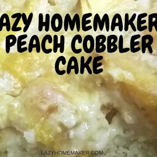 Lazy Homemaker Peach Cobbler Cake.