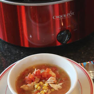 Slow Cooked Southwest Chipotle Chili Chicken Soup.