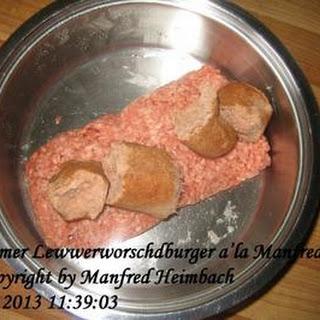 Burger – Bernemer Lewwerworschdburger a'la Manfred