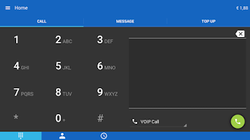 Screenshot of CallEasy Android Voip App