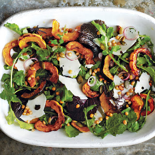 Roasted Acorn and Delicata Squash Salad