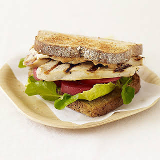 Grilled Chicken Sandwich with Chipotle Mayonnaise.