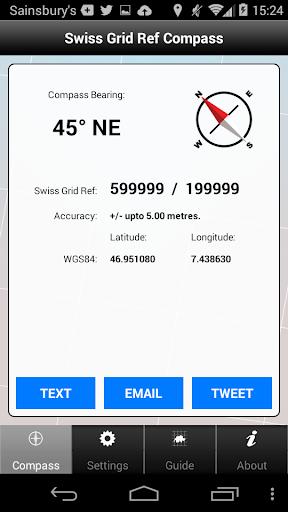 Swiss Grid Ref Compass