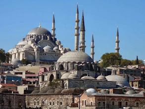 Photo: Nagy Szulejmán mecset, Isztambul, Galata-híd, Isztambul a Galata hídról