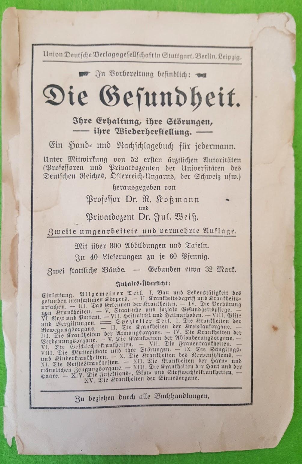 Buchwerbung 1900