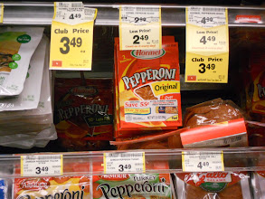 Photo: Turkey Pepperoni is a staple around our house. Hormel happened to be on sale and Mommy had a coupon so we stocked up.