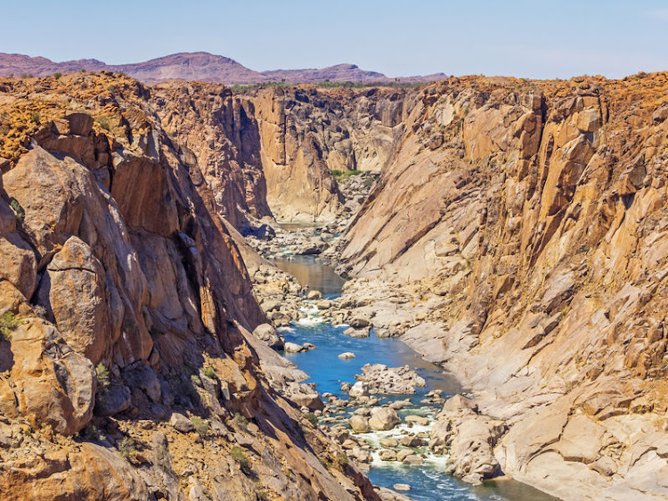 The Orange River Gorge below the waterfall in the Augrabies Falls National Park.