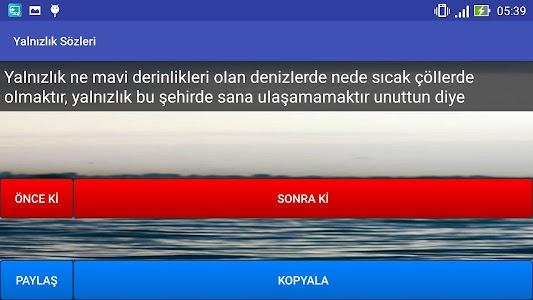 Yalnızlık Sözleri screenshot 6