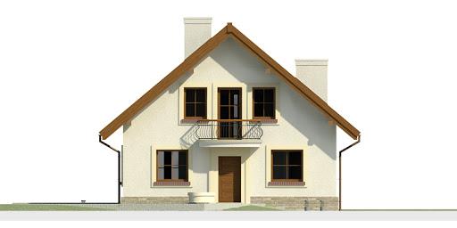 Dom przy Cyprysowej 12 - Elewacja przednia