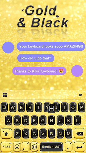Gold Black Keyboard Theme