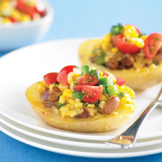 Tex-Mex Stuffed Potatoes with Corn Salsa