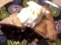 Orange Burst Blueberry Pie