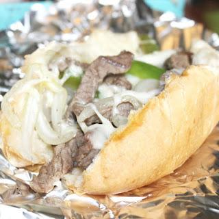 Easy Philly Cheesesteak Sandwiches.