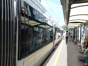 Photo: We decided to tour Istanbul on our own. Take the city street tram to the old town.
