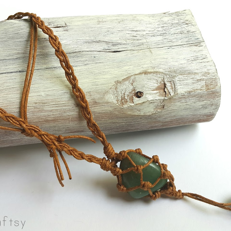 Aventurine - Boho Wrapped Crystal Necklace by The Artsy Craftsy