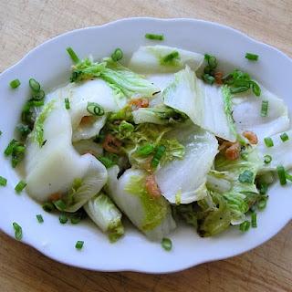 Chao Shanghai Cai (Stir fried Shanghai Bok Choi with garlic)
