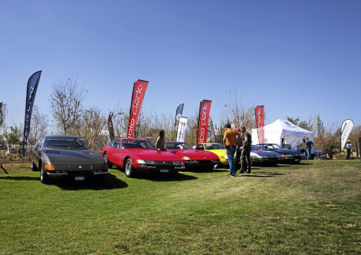 Ferraris on show at this year's Concours SA held at Steyn City.