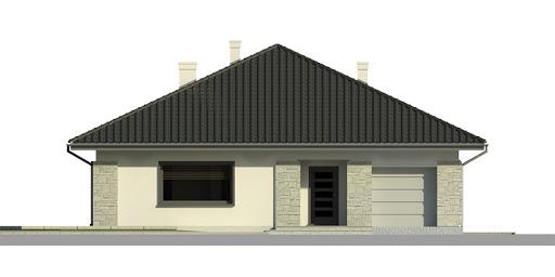 Dom przy Słonecznej 2 bis - Elewacja przednia