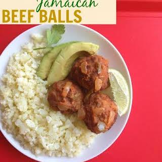 Jamaican Beef Balls.